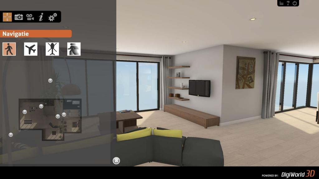 Fotorealistische weergave in een realtime 3D presentatie