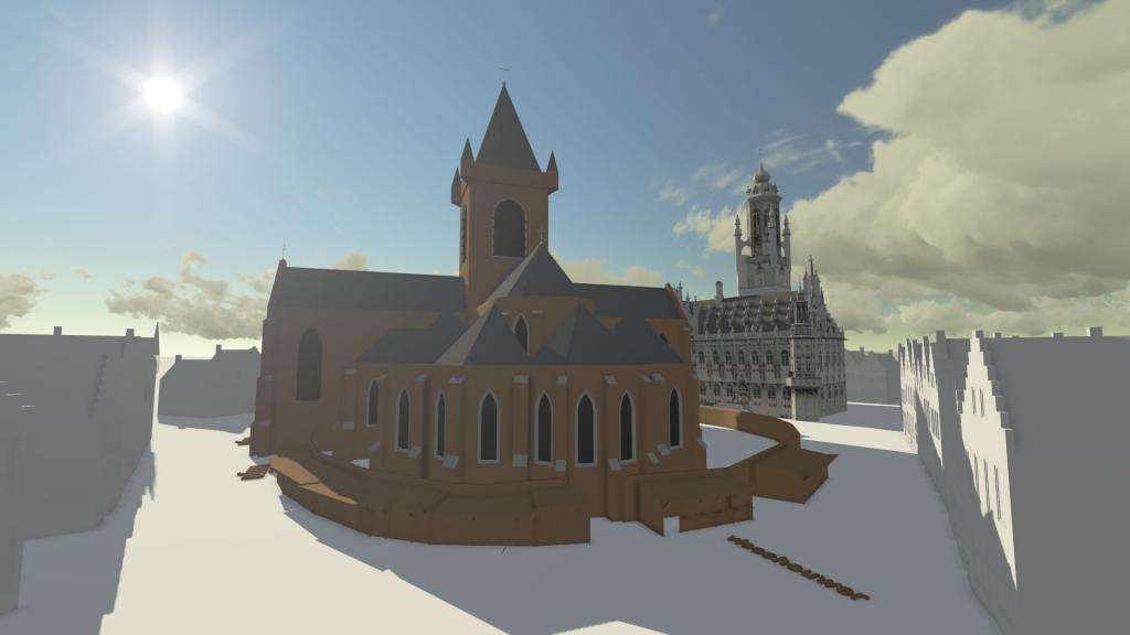 De makt in Middelburg met de Westmonster kerk en stadhuis