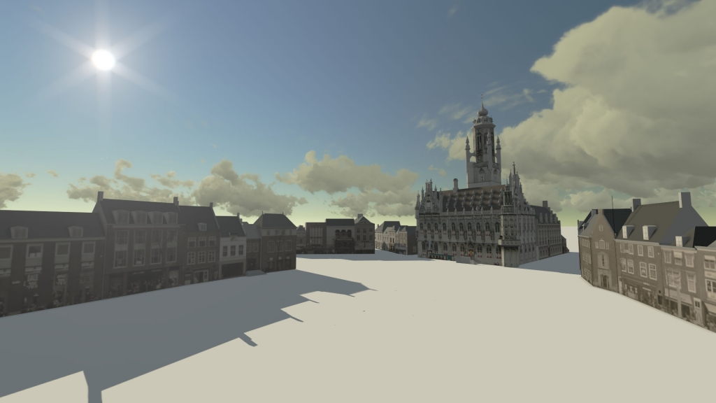 De markt in Middelburg na de tweede wereldoorlog